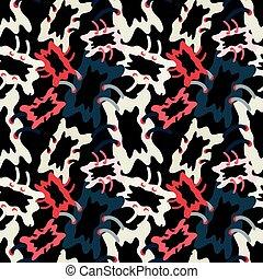 graffiti colored polygons seamless pattern