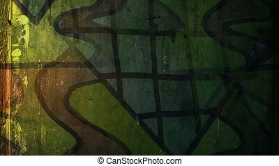 graffiti contemporary art avant-garde ornament night light...