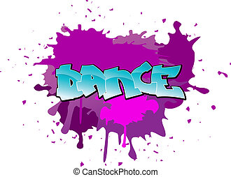 Graffiti dance background