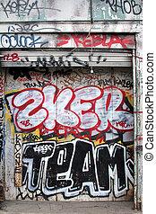 graffiti, dans, paris