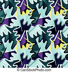 Graffiti delicate abstract seamless background vector illustration