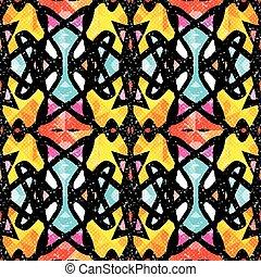 graffiti delicate vintage color ornament seamless pattern