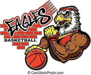 eagles basketball - graffiti eagles basketball team design...