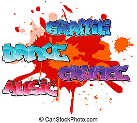 Graffiti elements background