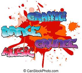Graffiti elements background