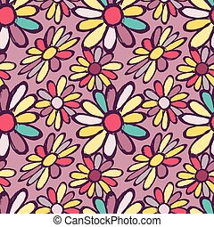 graffiti flowers seamless vector pattern for your design