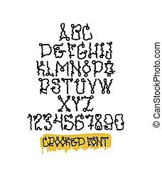 Graffiti font squeezer