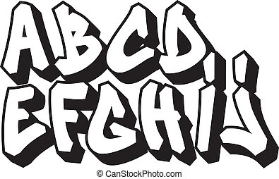 graffiti font type alphabet part 1 - street art graffiti ...