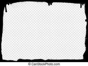 Graffiti frame on a transparent background. Vector illustration for your design.