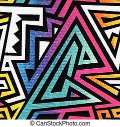 Graffiti geometric seamless texture