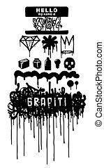 Graffiti iqons element