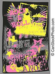 graffiti kunst, muziek, knallen