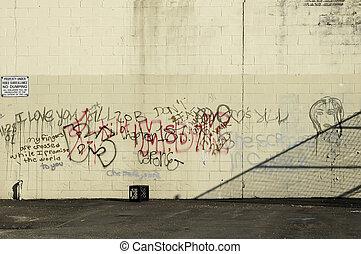 graffiti, muur