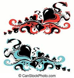 graffiti on a white background vector illustration