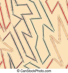 graffiti on light background seamless pattern