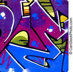 Graffiti on metal - Graffiti on a piece of scrap metal