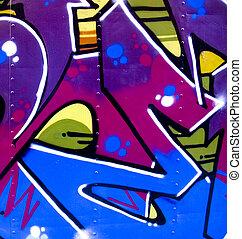 Graffiti on metal - Graffiti on a piece of scrap metal