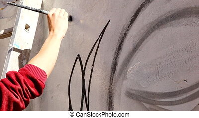 Graffiti paint with dark color