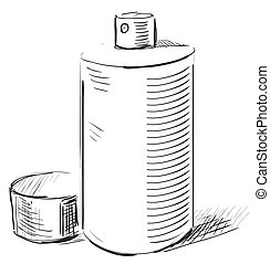 Graffiti spray can on a white background