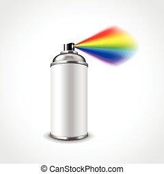 Graffiti spray can vector