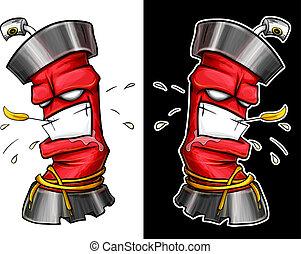 graffiti spray - Aggressive graffiti spray. Bolonchik spray...