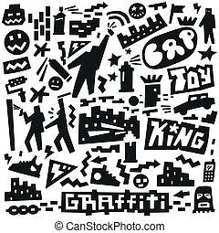 graffiti ,spray paint doodles