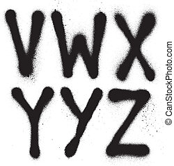 graffiti spray paint font (part 4)