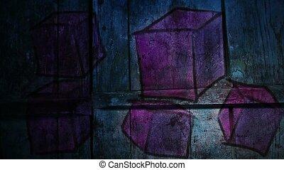 graffiti square, avant-garde, cube ornament night light...