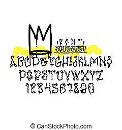 Graffiti squeezer font