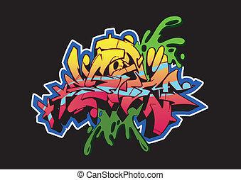Graffiti Storm Black