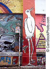 Graffiti street art - Street art at the San Francisco...