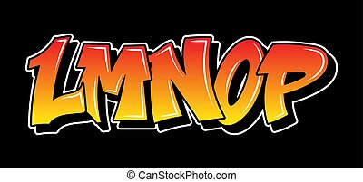 Graffiti style lettering text design - Some part of the ...