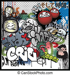 graffiti urban art elements