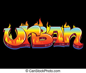 Graffiti Urban Art Vector Illustration