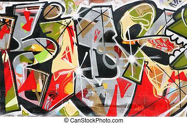 Graffiti - Urban graffiti close-up, may be used as...