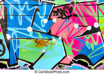 Graffiti - Urban graffiti close-up, may be used as...