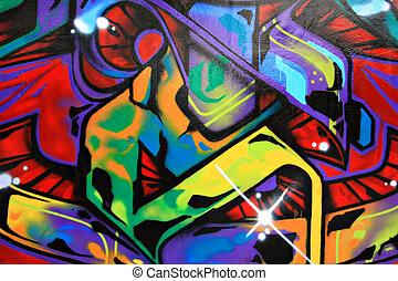 Graffiti - Urban graffiti wall