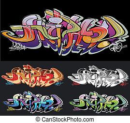 graffiti urbano, arte, hip-hop