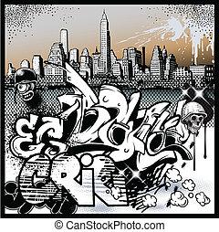 graffiti urbano, elementos, arte