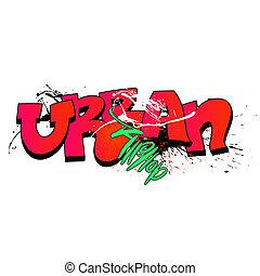 graffiti urbano, fondo, arte