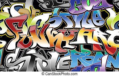 graffiti urbano, seamless, fondo