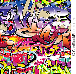 Graffiti wall background urban vector seamless