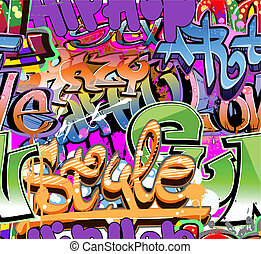 Graffiti wall vector urban hip hop