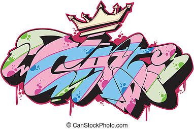 graffito, -, chat
