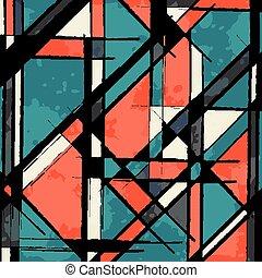 graffito, colorato, geometrico, oggetti, vettore, illustrazione