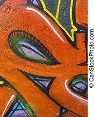 graffito, dettaglio
