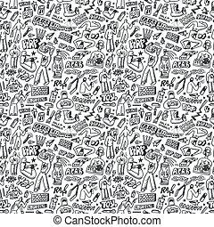graffito, seamless, fondo, -, rap, luppolo, anca