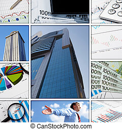 grafici, finanziario, tabelle, affari