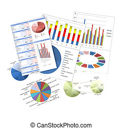 grafici, tabelle, affari