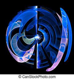 grafické pozadí., barva, kule, umění, abstraktní